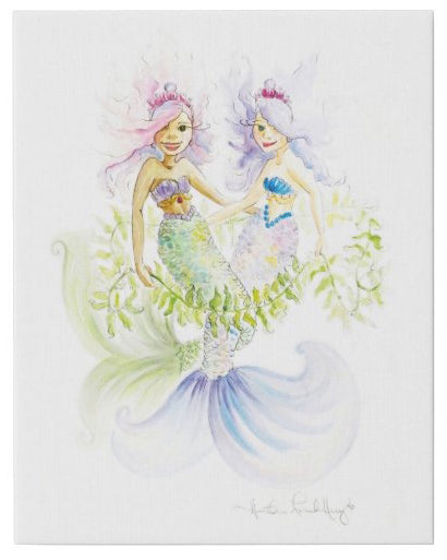 Sea Princess Friends Watercolor by Heather French Henry