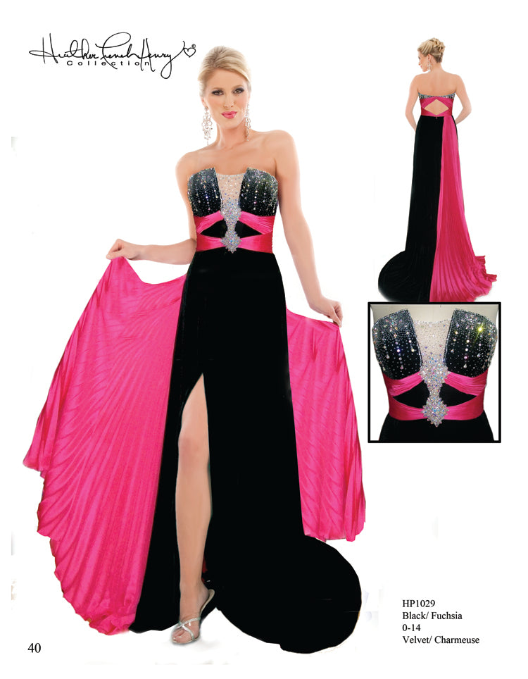 HP1029 Black Velvet Dream Gown
