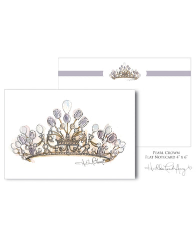 Amethyst Pearl Crown Notecard 20 Piece Set
