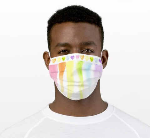 Rainbow Hearts Mask