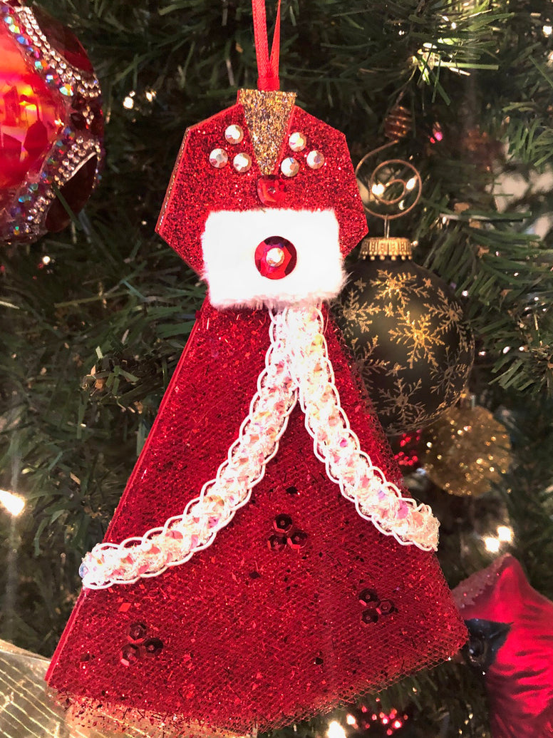 Rosemary Clooney Museum Red Dress Christmas Ornament