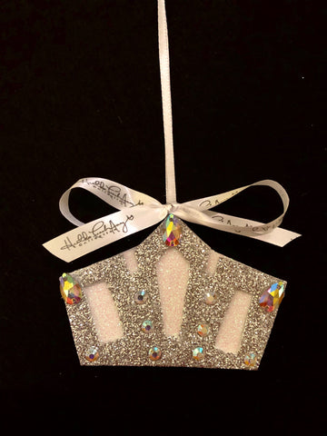 Silver Crown Christmas Ornament