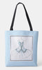 Personalized Blue Ballet Tote