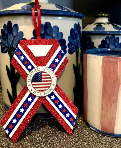 Patriotic Veteran Christmas Ornament