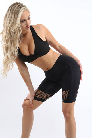Love Your Body Malibu Seamless Activewear Shorts - Black