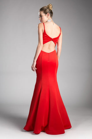 Sassy Jersey Cut-Out Gown