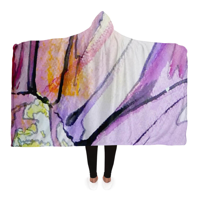 Sunflower Print Hooded Blanket by Heather French Henry