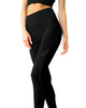 Love Your Body Mesh Seamless Legging With Ribbing Detail - Black