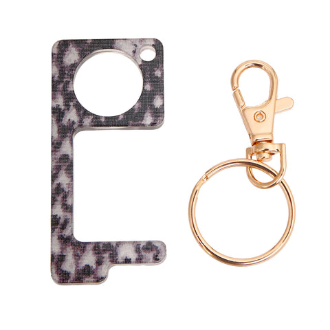 Snake Print Touchless Door Button Tool