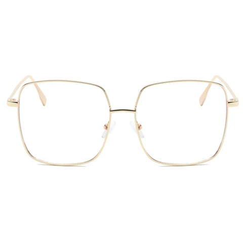 Blue Light Blocking Gold Square Glasses