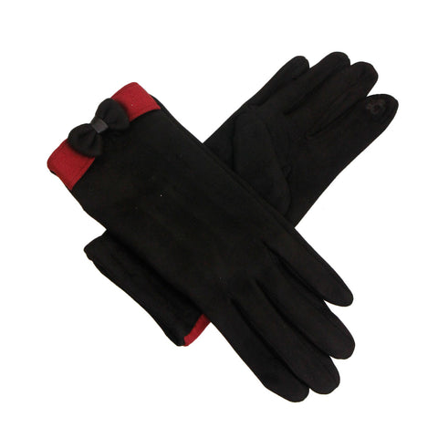 Black Suede Touch Screen Gloves