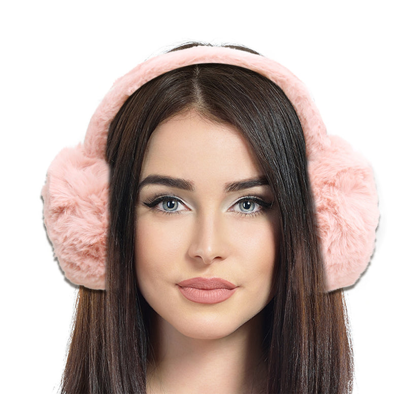 Super Soft Mauve Fur Earmuffs