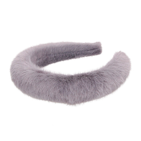 Gray Fur Headband