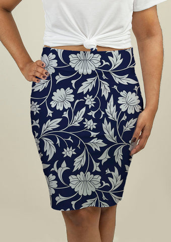 Pencil Skirt with Chinese pattern