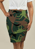 Pencil Skirt with Dinosaur Camouflage
