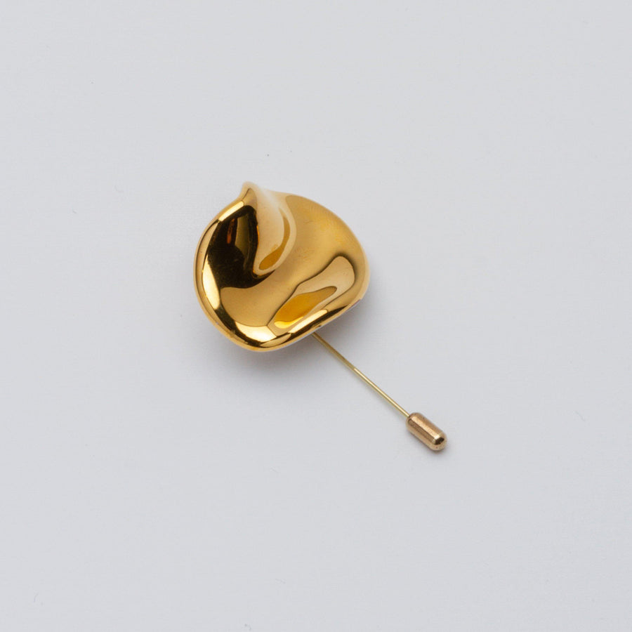 METAL GOLD PLATED CERAMIC BROOCH by PEDRUSCO - Unearth Store