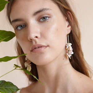 CAMELIA PORCELAIN EARRINGS by PEDRUSCO - Unearth Store