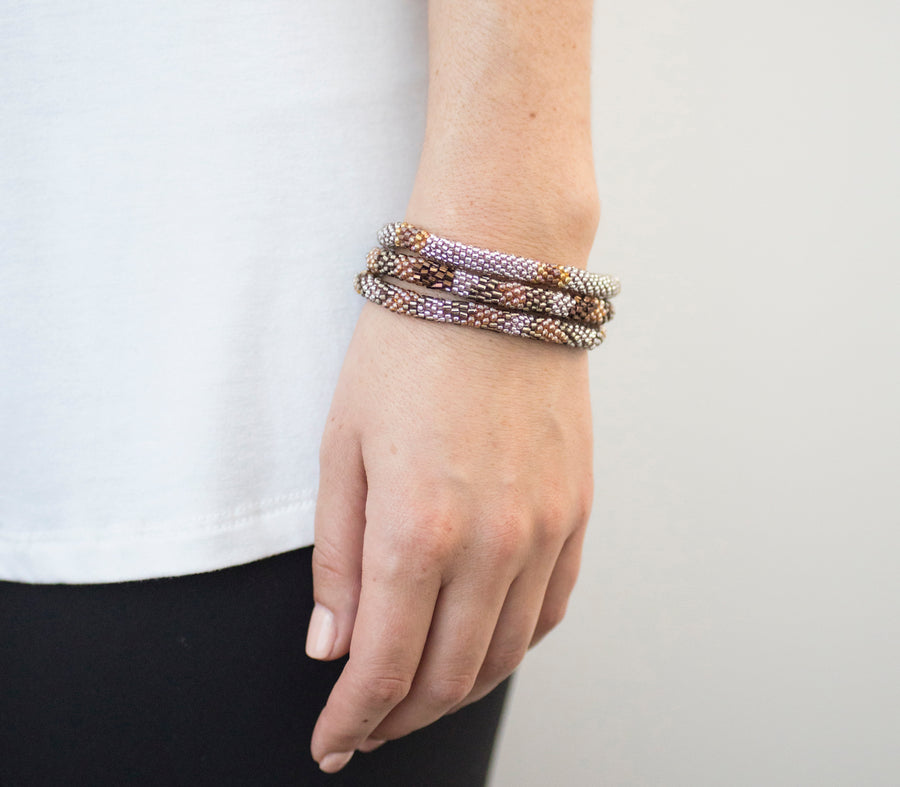 FAIR TRADE HAZELNUT ROLL-ON BRACELET by AID THROUGH TRADE - Unearth Store