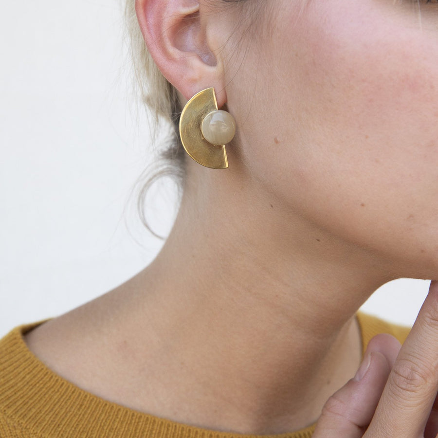 NUSU STUD EARRINGS by SOKO - Unearth Store