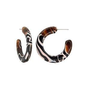KATE HOOPS ZEBRA EARRINGS by MACHETE - Unearth Store