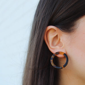 MINI ISLA ASH BLONDE HOOP EARRINGS by MACHETE - Unearth Store