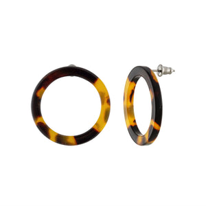 MINI ISLA TORTOISE SHELL HOOP EARRINGS by MACHETE - Unearth Store