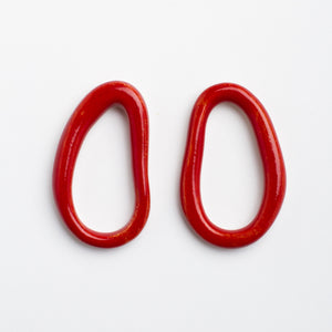 EMAN CERAMIC RED EARRINGS by PEDRUSCO - Unearth Store