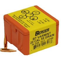 Berger 20 cal 55g Match BT 20306 Varmint