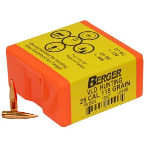 Berger 25 cal 115g Match VLD 25513 Hunting