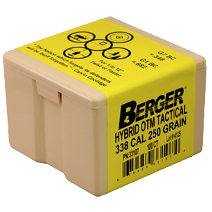 Berger 338 cal 250g Hybrid OTM 33107 Tactical