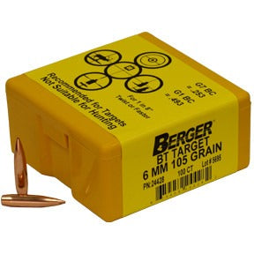 Berger 6mm 105g Match BT 24428 Target