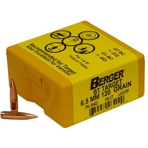 Berger 6.5mm 120g Match BT 26402 Target