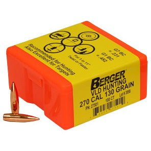 Berger 270 cal 130g Match VLD 27501 Hunting