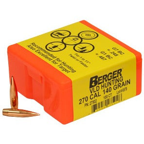 Berger 270 cal 140g Match VLD 27502 Hunting