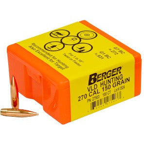 Berger 270 cal 150g Match VLD 27503 Hunting