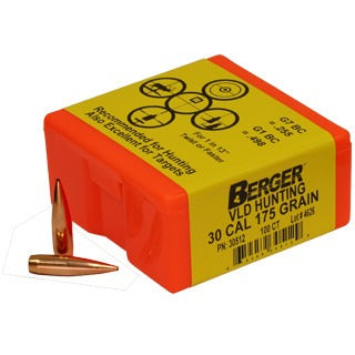 Berger 30 cal 175g Match VLD 30512 Hunting