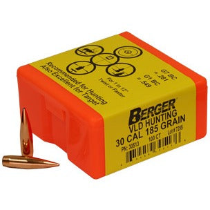 Berger 30 cal 185g Match VLD 30513 Hunting