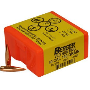 Berger 30 cal 190g Match VLD 30514 Hunting