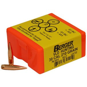 Berger 30 cal 210g Match VLD 30757 Hunting x 500