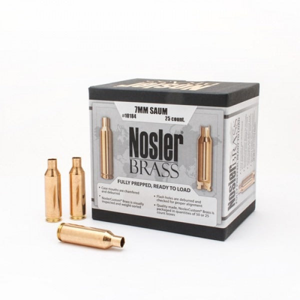 Nosler Brass 7mm Rem Saum - 25pc