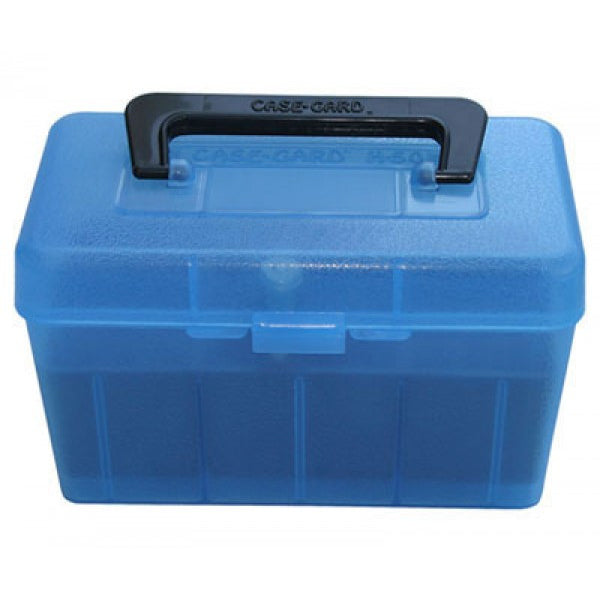 MTM 50 Round Ammo Box .223 w/Handle - Blue