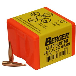 Berger 338 Cal 250gr Elite Hunter 33554