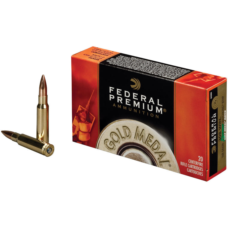 Federal Ammunition 223 Rem 69gr/308 Win168gr Gold Medal