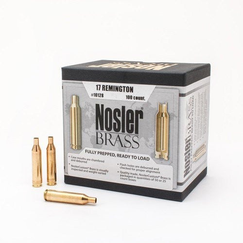 Nosler Brass .17 rem - 100pc