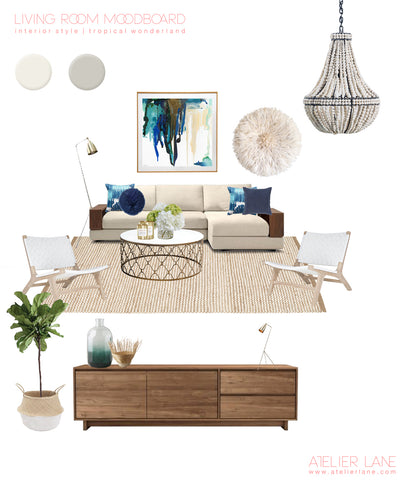 Atelier Lane | mood board for living room