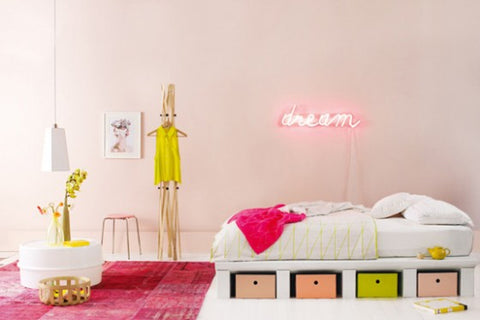 Neon sign decoration - pink
