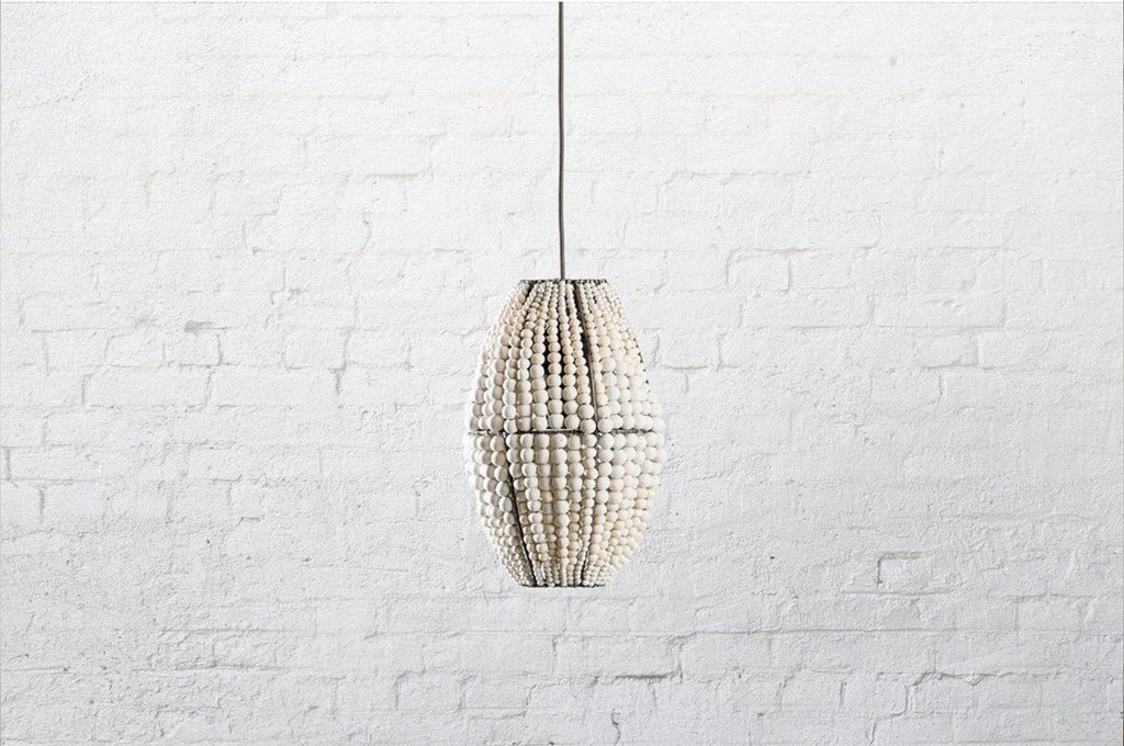 BARREL CLAY BEADED PENDANT - ATELIER LANE | interior design hong kong | designer homewares australia