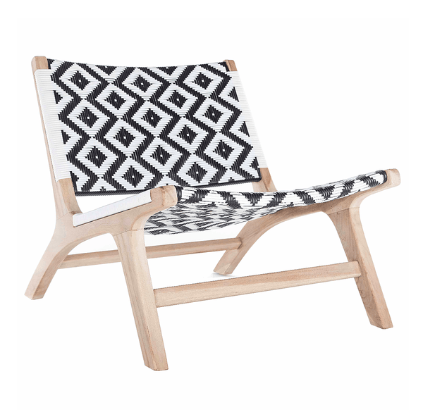 CAPE TOWN OCCASIONAL CHAIR - BLACK & WHITE - ATELIER LANE | interior design hong kong | designer homewares australia