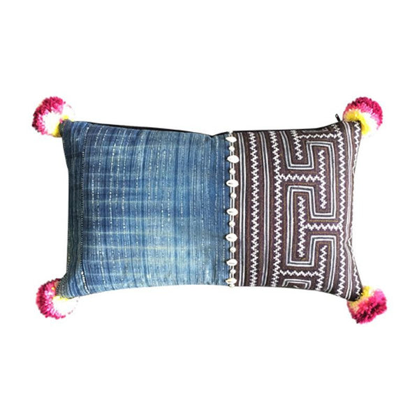 Indigo Tribe Cushion - ATELIER LANE | interior design hong kong | designer homewares australia