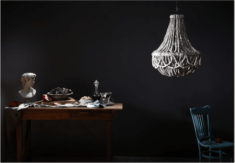 FRILL CLAY BEADED CHANDELIER